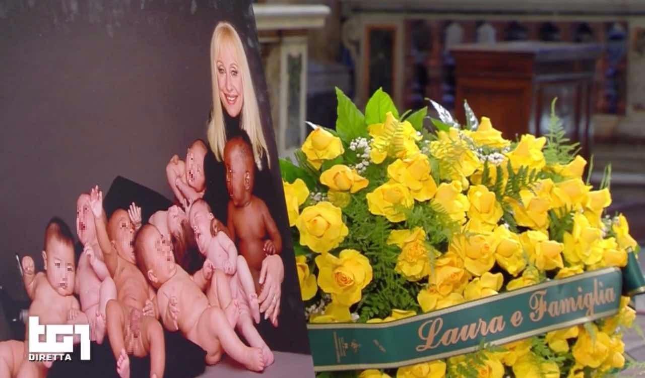 Raffaella Carrà funerale bambini