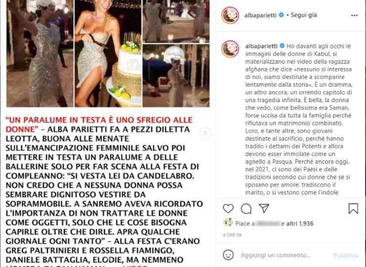 alba parietti diletta leotta